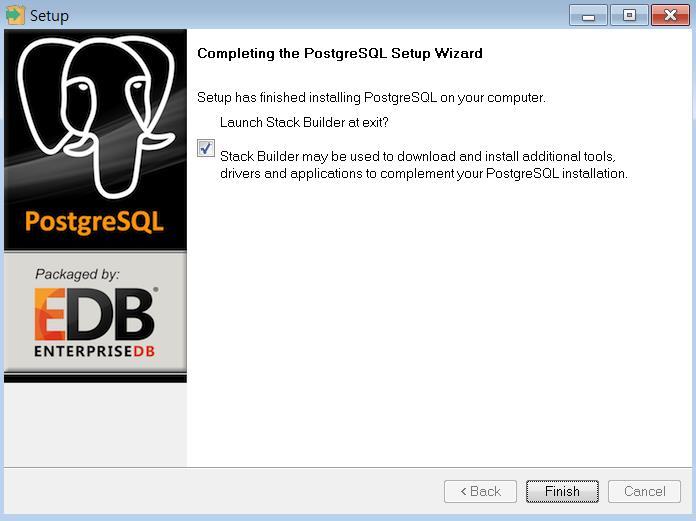 PostgreSQL install : 윈도우 설치