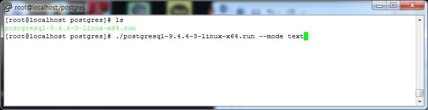 PostgreSQL install : 리눅스