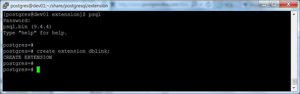 PostgreSQL-Postgresql에서 Postgresql dblink 사용하기