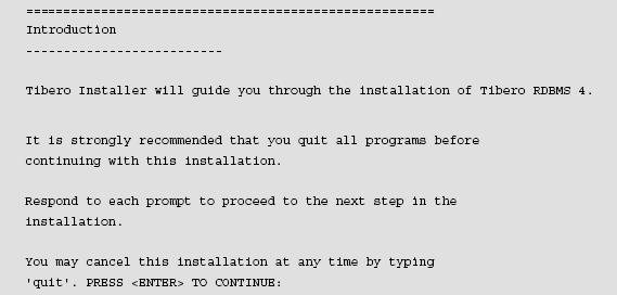 Tibero4 Consol 모드 설치