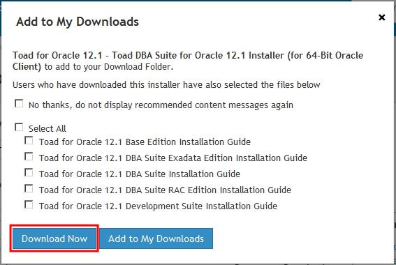 Toad for Oracle Install