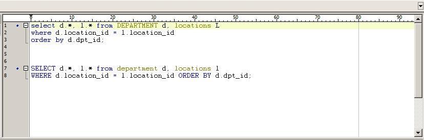 Toad SQL Formatter