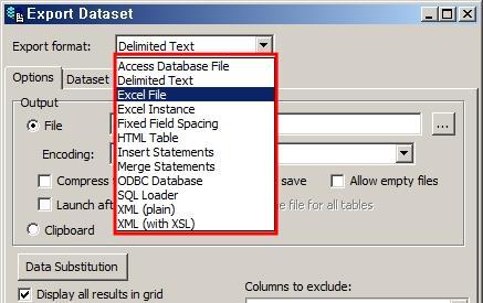 Toad 파일로 데이터를 추출하는 방법