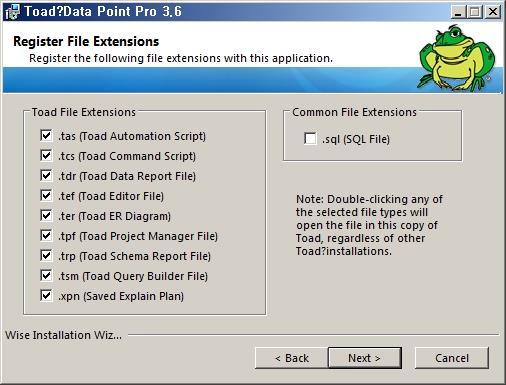 연결 파일 확장자 선택