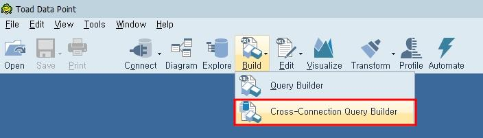 Toad Cross-Connection Query